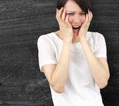 Kızgın kadın — Stok fotoğraf