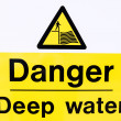 Stock Photo: Danger Deep Water