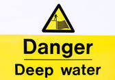 Danger Deep Water — Stock Photo