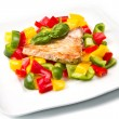 Fried tuna fillet with pepper — Stock Photo