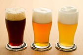 Different type of beer — Stock Photo