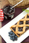 Blueberry tarts — Stock Photo