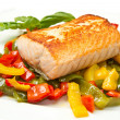 Grilled salmon and vegetables — Stock Photo #13872728