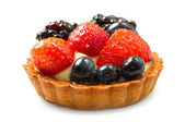 Fresh fruit tart — Stock Photo