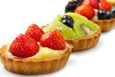 Fresh fruit tart — Stock Photo