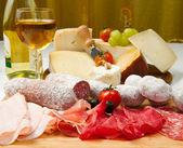 Charcutaria e queijos — Foto Stock