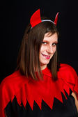 Young devil woman — Stock Photo