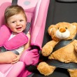 Baby in a safety car seat. Safety and security — Stock Photo #15725815