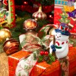 Christmas Tree and Christmas gift boxes — Foto de Stock