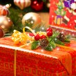 Christmas Tree and Christmas gift boxes — Stock Photo