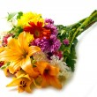 Beautiful bouquet of bright flowers - Stock Photo