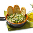 Stock Photo: Soup vegetable with crouton on bowl