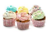 Färgade cupcakes — Stockfoto