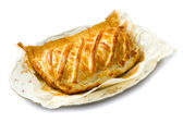 Cheese pie baked with puff pastry — Stok fotoğraf
