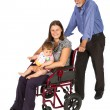 Smiling female patient in a wheelchair — Stock Photo