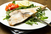 Roasted swordfish — Stock Photo
