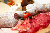 Cold cuts and cheese — Stock Photo