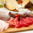 Cold cuts and cheese — Stockfoto