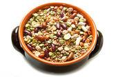 Vegetables in crock pot — Stock Photo