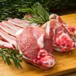 Stock Photo: Rib lamb