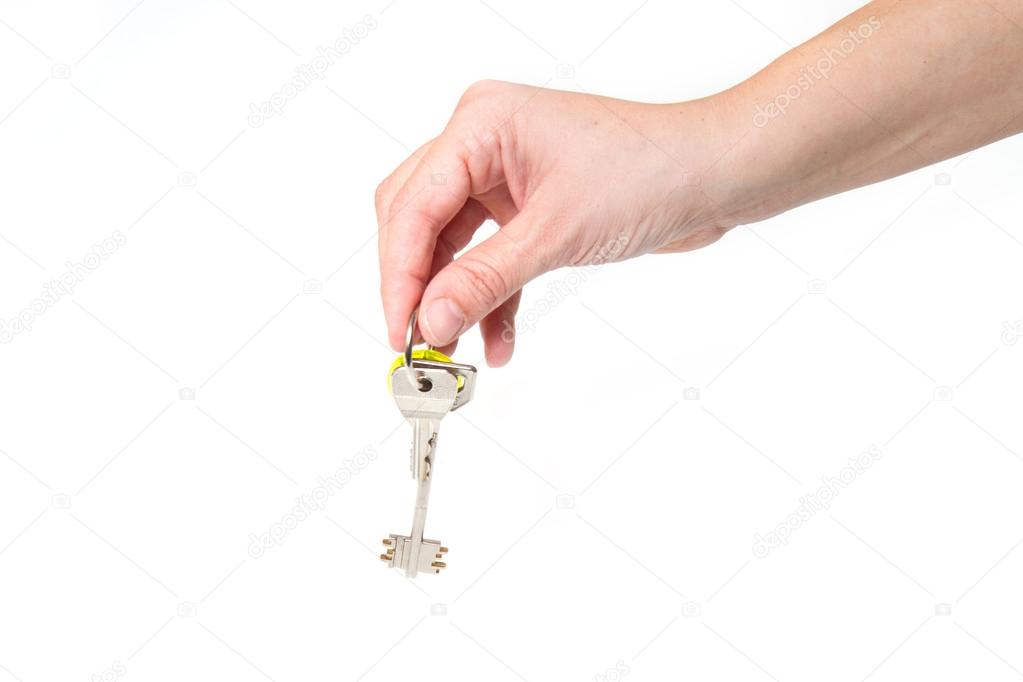 A bunch of House key  with house in backgrounds — Stock Photo #21089911