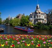 Uno de los canales de amsterdam — Foto de Stock