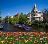 One of canals in Amsterdam — Stock Photo