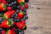 Berries on Wooden Background — Foto de Stock