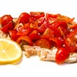 Swordfish with tomatoes — Stock Photo #24025363