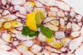 Octopus carpaccio — Stock Photo
