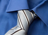 Tie on shirt — Stock Photo