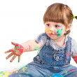 Baby girl artist — Stock Photo
