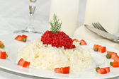 Rice with red caviar — Stock Photo