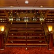 Stock Photo: Cruise ship interior staircase