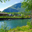 Sognefjord port in Flam Norwegian fjord. — Stock Photo #27037725