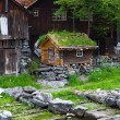 Stock Photo: Country houses in village Olden in Norway.