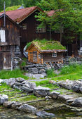 Country houses in village Olden in Norway. — Stock Photo