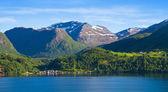 Norsko, Skandinávie, Evropa. krásné fjord a pobřeží. — Stock fotografie