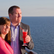Couple Enjoying a Cruise Vacation — Stock Photo