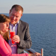 Couple Enjoying a Cruise Vacation — Stock Photo #27162755