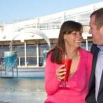 Couple Enjoying a Cruise Vacation — Stock Photo #27162829