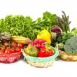 Stock Photo: Organic food background Vegetables in basket
