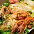 Mixed seafood grill — Stock Photo