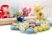 Different colored candy favor — Stock Photo