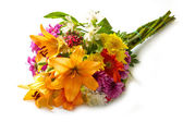 Beautiful bouquet of bright flowers — Stock Photo