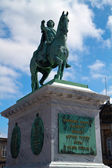 Christian IX statue. Christiansborg Palace on the islet of Slots — Stock Photo