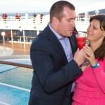 Couple Enjoying a Cruise Vacation — Stock Photo