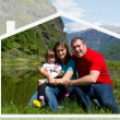 Stockfoto: Happy family spends time together on nature