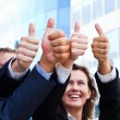 Stock Photo: Business thumb up
