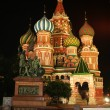 Red square by night , The Orthodox Cathedral, Moscow — Stock Photo